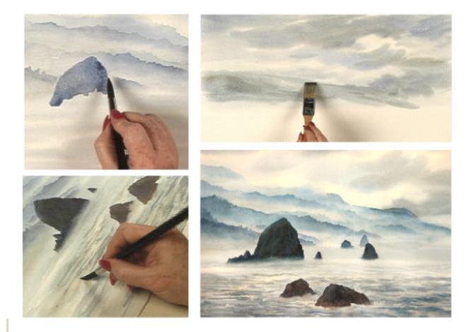 Selected details for Painting the Oregon Coast with Susie Short