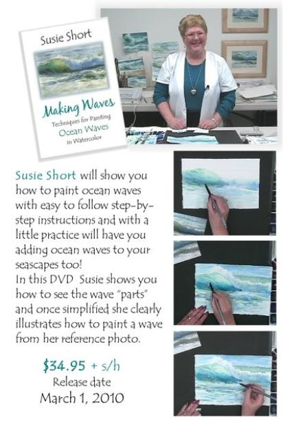 Susie Short will show you how to paint ocean waves with easy to follow step by step instructions and clearly illustrates how to paint a wave from her reference photos of ocean waves.